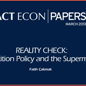 Actecon Papers 8. sayısı FMCG perakendeciliğiüzerine