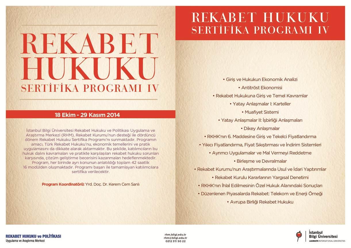 Bilgi Üniversitesi Rekabet Hukuku Sertifikası