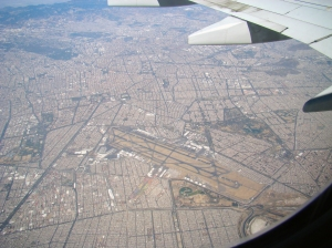 Arial View of Mexico City Airport